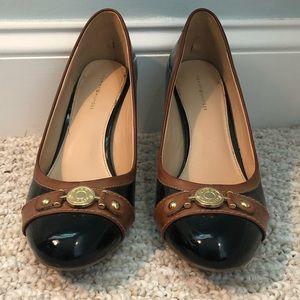 Black and brown Tommy Hilfiger heels